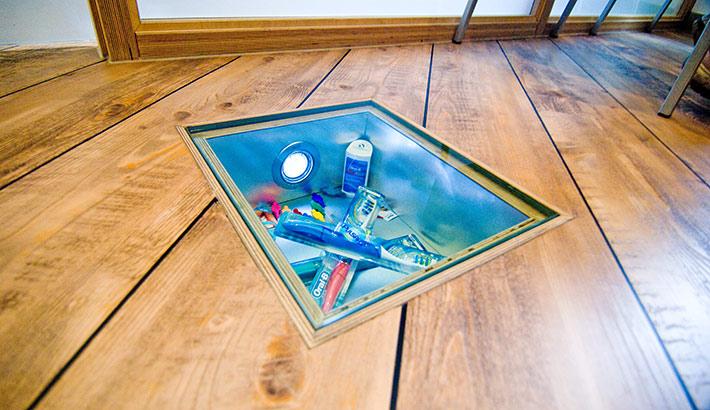 objects.sh Arztpraxis Bodenbelag Einlass Beleuchtung Dekoration