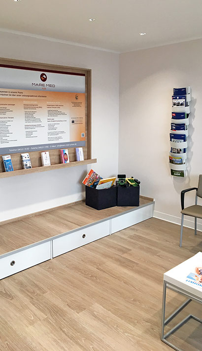 objects.sh Arztpraxis Wartebereich Wartezimmer Stuhl Bodenbelag