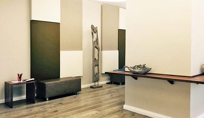 objects.sh Arztpraxis Bodenbelag Möbel Wartebereich
