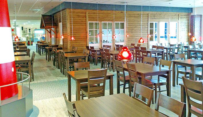objects.sh Gastronomie Einrichtung Kantine Tische Stühle