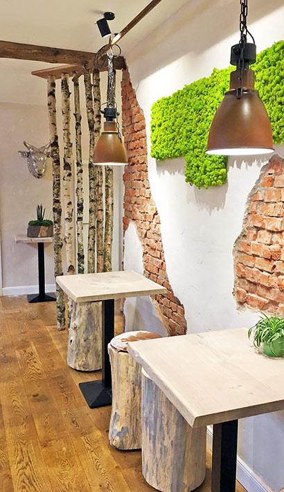 objects.sh Gastronomie Restaurant Einrichtung Tische Stühle Dekoration